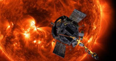 Illustration de Parker Solar Probe approchant le soleil. - NASA/Johns Hopkins APL/Steve Gribben